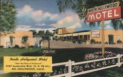 North Hollywood Motel Postcard