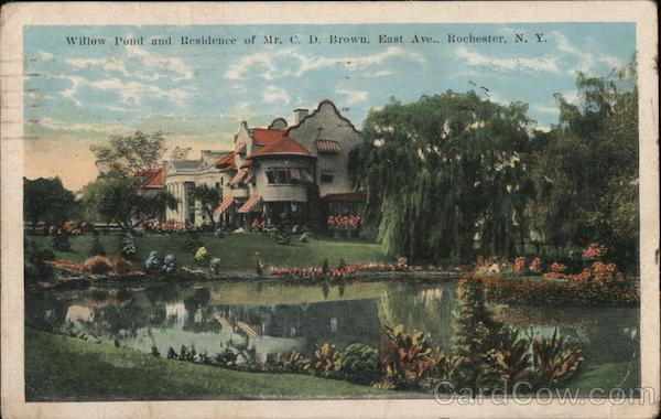 Willow Pond and Residence of Mr. C. D. Brown, East Ave. Rochester New York
