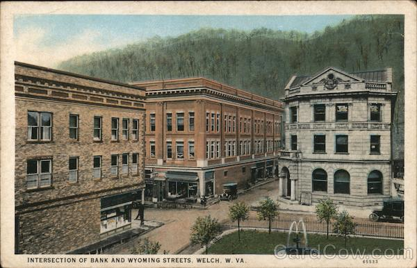 Intersection of Bank and Wyoming Streets Welch West Virginia