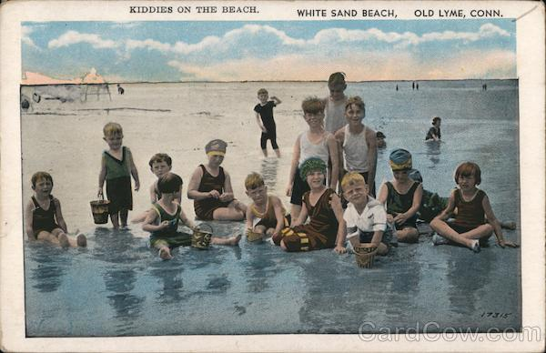 Kiddies on the Beach - White Sand Beach Old Lyme Connecticut