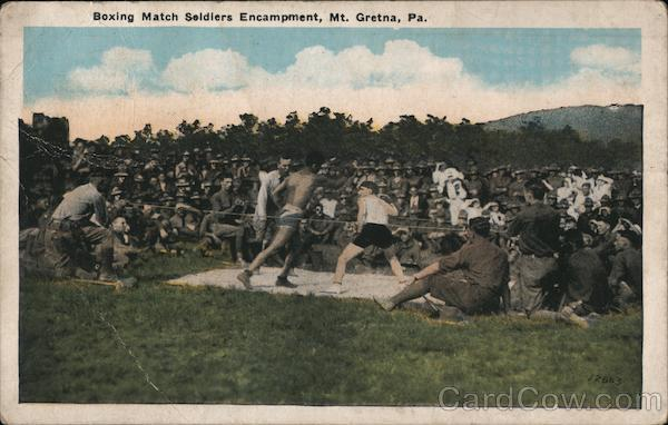Boxing Match Soldiers Encampment Mount Gretna Pennsylvania