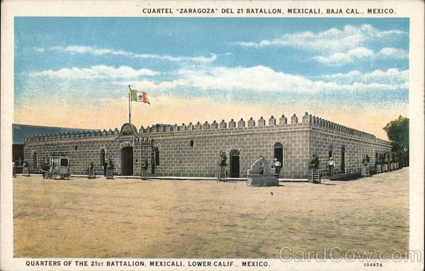 Quarters of the 21st Battalion, Mexicali, Lower Calif. Mexico