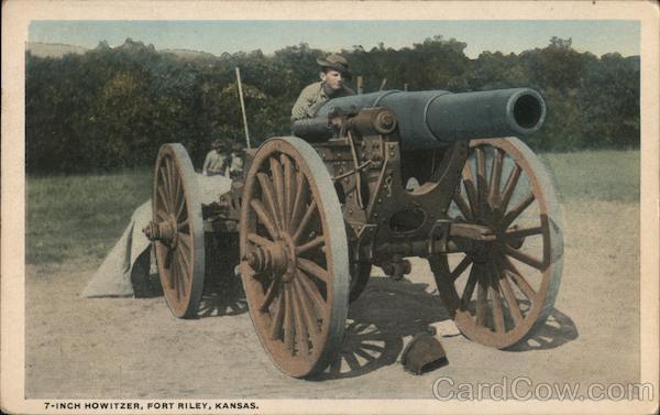 7-Inch Howitzer Fort Riley Kansas