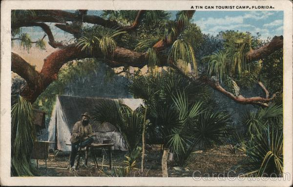 A tin can tourist camp Florida Hobos