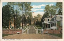 National Cemetery Postcard