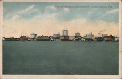 City from St. Johns River