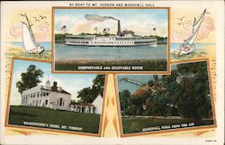 By Boat to Mt. Vernon and Marshall Hall Postcard