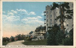 The Hotel, West Front and Drive Postcard
