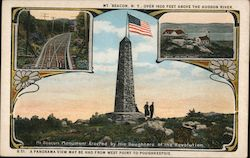 Beacon Mountain A Panorama View May be Had From West Point to Poughkeepsie Postcard