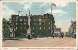 Warburton Avenue Showing Manor Hall and Solders' and Sailors' Monument Postcard