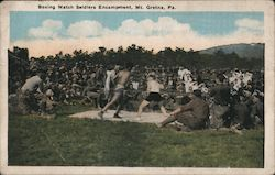 Boxing Match Soldiers Encampment