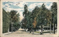 Sullivan Park in Front of Rahway Hotel Showing Campbell Street
