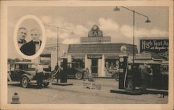 Corduroy Tires and Service Station Sunoco Postcard