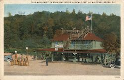 Cove Mountain Tea Room on Lincoln Highway Postcard