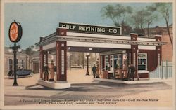 Gulf Refining Co. A typical Gulf Service Station Postcard