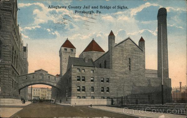Allegheny County Jail and Bridge of Sighs Pittsburgh Pennsylvania