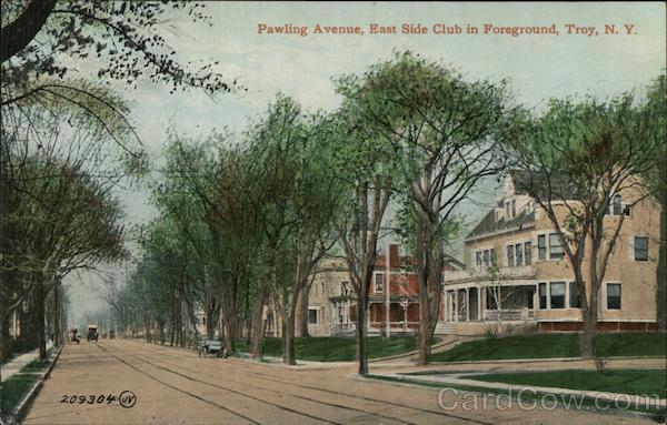 Pawling Avenue, East Side Club in Foreground Troy New York