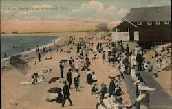 A Summer's Day at Watch Hill Postcard
