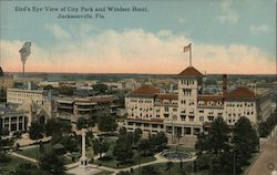 Bird's Eye View of City Park and Windsor Hotel