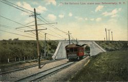 On the Ballston Line, Scene Near Postcard