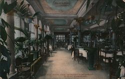Main Dining Room, Davenport's Restaurant Postcard