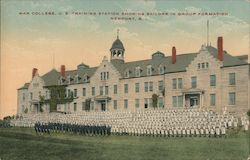 War College, U. S. Training Station showing sailors in group formation