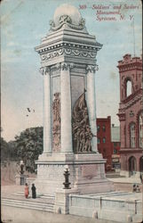 Soldiers' and Sailors' Monument Syracuse, NY Postcard