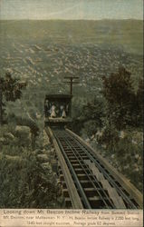 Looking Down Mt. Beacon Incline Railway from Summit Station