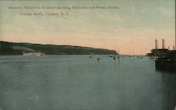 "Steamer ""Henrick Hudson"" Showing Palisades and Power House, Looking North Postcard"
