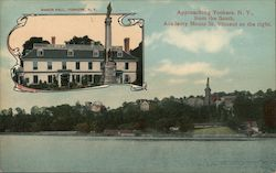 Approaching Yonkers, N.Y. from the South, Academy Mount St. Vincent on the Right Postcard