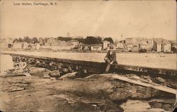 Low Water Carthage, NY Postcard