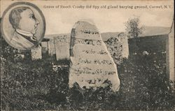 Grave of Enoch Crosby the Spy Old Gilead Burying Fround