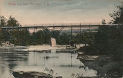 Bridge Near Lakes Mill Postcard