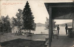 View of Merrill House and Chateaugay Lake