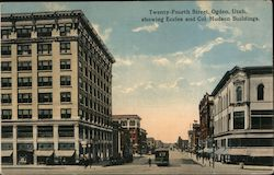 Twenty-Fourth Street Showing Eccles and Col. Hudson Buildings Postcard