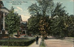 View on South Charles Street Postcard