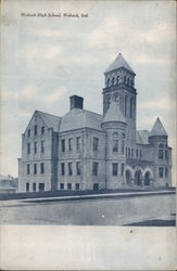 Wabash High School Postcard