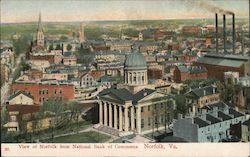 View of Norfolk from National Bank of Commerce Postcard