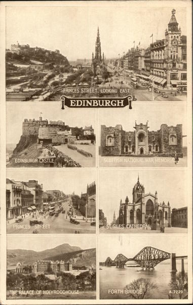 Princes Street, Looking East Edinburgh Scotland