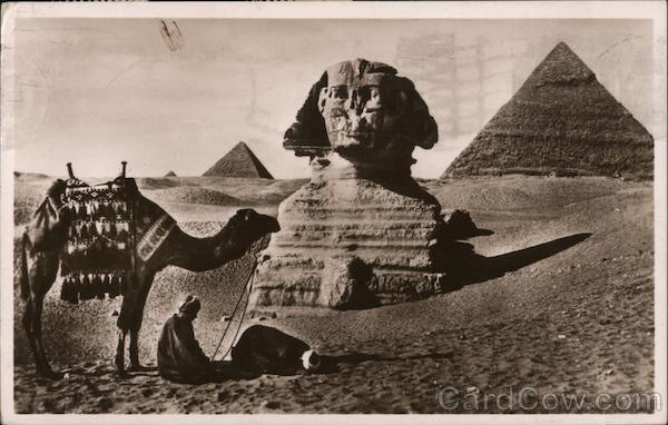 Prayer Near the Great Sphinx Cairo Egypt Africa