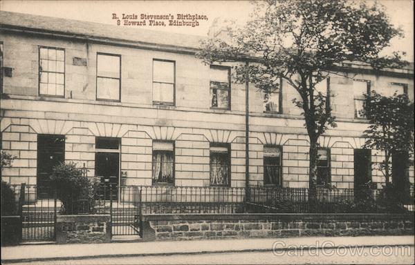 R. Louis Stevenson's Birthplace, 8 Howard Place Edinburgh Scotland