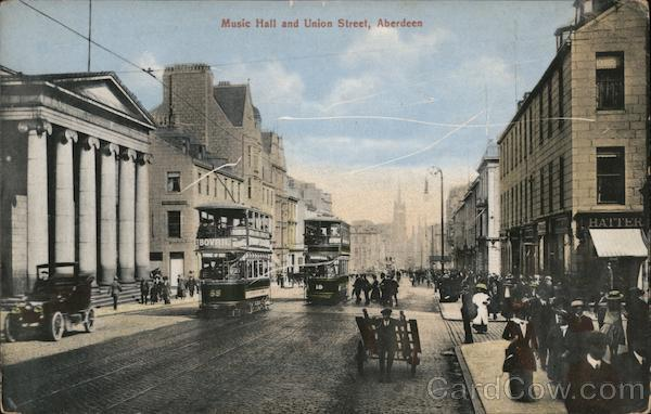 Music Hall and Union Street Aberdeen Scotland