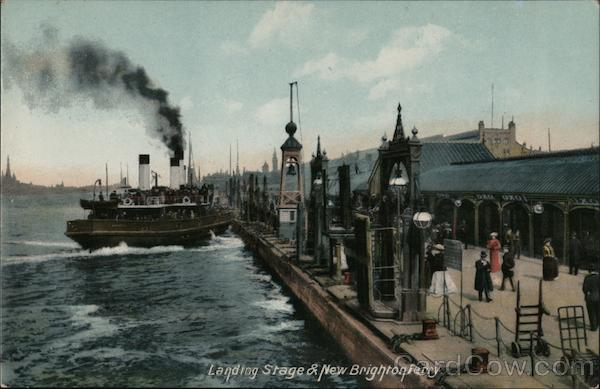 Landing Stage and New Brighton Ferry England Merseyside