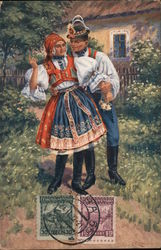 Czech Couple in traditional dress