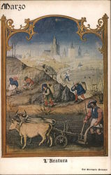 March Plowing, Miniature from the Grimani Breviary