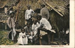 A Family of Moros, Philippine Islands Postcard