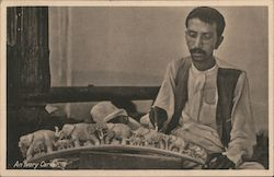 An ivory carver