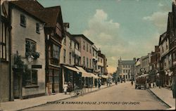 High st Harvard House, Stratford-on Avon Postcard