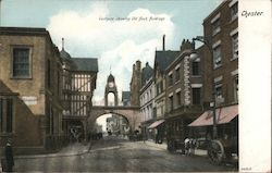 Eastgate showing old bank buildings Postcard