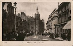 Looking Along Bedford Street Postcard